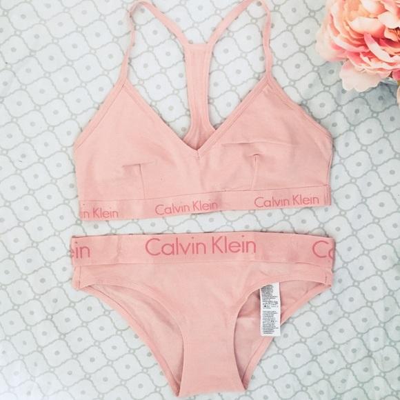 74ee8ecbcfc2e Calvin Klein Intimates & Sleepwear | Matching Underwear Set Bra ...